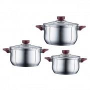 Set cratite inox cu capac 6 piese Peterhof 27x26x24 cm, PH-15817