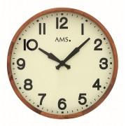 AMS 9535 Wandklok Hout met glas 40 cm ø