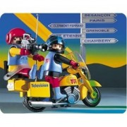Playmobil 3847 TVI Motorcycle Crew with Camera