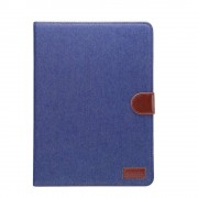 Shop4 - iPad Pro 10.5 Hoes - Book Cover Jeans Blauw