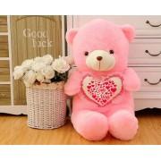 Pink 3.5 Feet Teddy Bear holding I Love You Heart