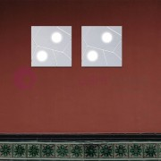Cattaneo Illuminazione Street Plafoniera Quadrata 30x30 2gx53 Led Design Moderno