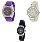 Glory Combo Of Designer Ladies Watch Pack Of 3 by 7Star