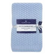 Texpol - Бамбуково одеяло плетено синьо 80х100 см