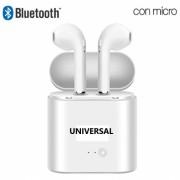 Auricular Bluetooth com Micro Dual Pod Premium Branco em Blister