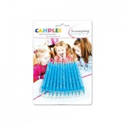 Sweeping party candeline celesti glitterate 24 pz
