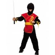 Vegaoo Ninja-Kostüm rot für Jungen
