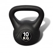 vidaXL Kettlebell 10 kg Concrete with Plastic Coated