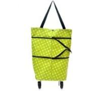 BASIC DEAL Lightweight Shopping Trolley Wheel Folding Travel Luggage Bag(Green)
