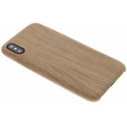 Beige Houten TPU Case voor de iPhone Xs / X