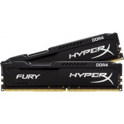 Memorija Kingston 8 GB Kit (2x4 GB) DDR4 2400 MHz HyperX Fury Black, HX424C15FBK2/8