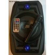 Boxa portabila Bluetooth A63 Karaoke ,telecomanda + microfon , 40cm inaltime