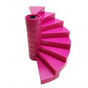 Lego Parts: Skyra's Mysterious Sky Castle Staircase Bundle - (1) Black - Support Axle 1 x 1 x 5 1/3 and (8) Magenta - Spiral Steps