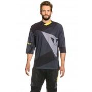 Dainese Funktions-Shirt Trailtec, Halbarm, V-Ausschnitt grau