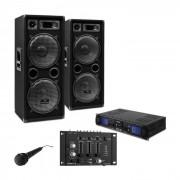 """Set DJ """"DJ-27"""" Amplificatore Casse 2000W USB SD MP3"""