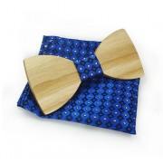 Dřevěný motýlek s kapesníčkem Gaira 709808