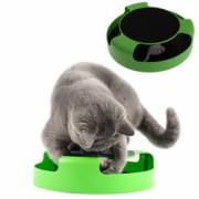 Jucarie Interactiva pentru Pisici de culoare verde/negru cu Soricel gri