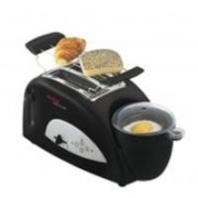 Tefal Toast n' Egg TT 5500 - Grille-pain -électrique - 2 tranche - noir / argent