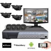 Kit vidéosurveillance 4 caméras CMOS 600 lignes