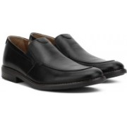 Clarks Becken Step Black Leather Slip On For Men(Black)