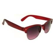 Mangal Brothers Retro Square Sunglasses(Red)