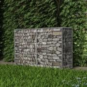 vidaXL Parede/cesto gabião em aço 150x50x100 cm