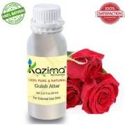 KAZIMA Gulab Attar Perfume For Unisex - Pure Natural (Non-Alcoholic) (30ml)