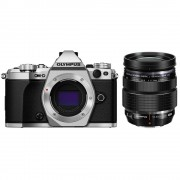 Olympus OM-D E-M5 Mark II Aparat Foto Mirrorless 16MP MFT Full HD Kit cu Obiectiv 12-40mm F2.8 Argintiu / Negru