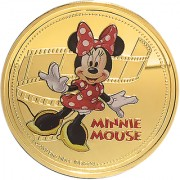 Disney Classics Coin Collection - Minnie Mouse Gold Plated Coin in Capsule Box