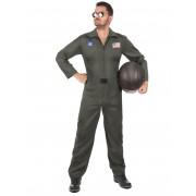 Deguisetoi Déguisement de pilote d'avion avec lunettes homme - Taille: L