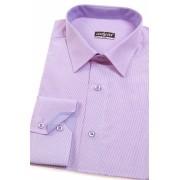 Proštíhlená košile SLIM lila s jemnou strukturou Avantgard 125-706-41/42/194