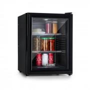 Klarstein Brooklyn 42, frigider, clasa energetică A, uși din sticlă, interior negru, negru (BCH-50BG Blk)