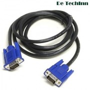 De TechInn 15 Pin Male to Male High Quality VGA Cable PC/Monitor/TV/LCD/LED 1.5M