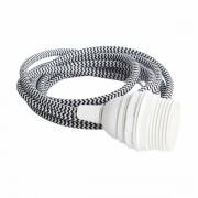 House Doctor Textilní kabel pro svítidlo - černobílý