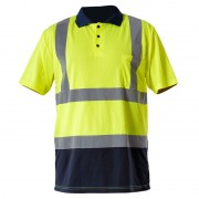 Tricou reflectorizant polo / verde - s