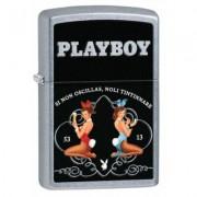 28839 Zippo öngyújtó, ezüst színben - Playboy