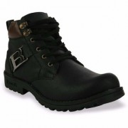 ROBBOX Synthetic Leather Mid Ankle Casual Boots/Biking Boots/Safety Shoes for Men's