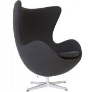 Design Town Fotel JAJO ciemno szary kaszmir - inspirowany proj. Egg Chair