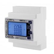 Analizor retea electrica LUMEL NMID30-1, masurare parametri retele monozate si trifazate, Certificare MID, Modbus, interfata RS485, intrare 1/5A
