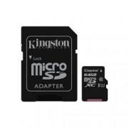 KINGSTON 128GB CANVAS MICRO SDXC 80R CL10 UHS-I + SD ADAP.