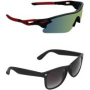 Zyaden Sports, Wayfarer Sunglasses(Multicolor, Black)