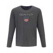 Gant Rundhals-Shirt GANT grau