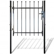 Single Door Fence Gate with Spear Top 100 x 100 cm