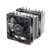 """Cooler DeepCool CPU universal, soc. LGA20xx/1366/115x/775 & FMx/AMx, Al+Cu, 6x heatpipe, 2x RGB SYNC fans 120x25mm, 200W """"NEPTWIN RGB"""""""