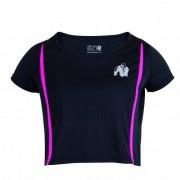 Gorilla Wear Columbia Crop Top Black/Pink - XS