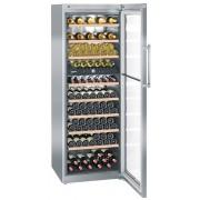 Vitrina pentru vinuri Liebherr WTes 5972, 516 L, 211 sticle, Rafturi lemn, Control electronic, Display, H 192 cm, Inox