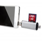 C * + Micro Usb + Sd (hc) + Micro Sd Lector De Tarjetas Sim Para Samsung Galaxy S8 S8 + / Lg G6 / Huawei P10 Y P10 Plus / Xiaomi Mi6 Y Max 2 Y Otros Smartphones (plata)