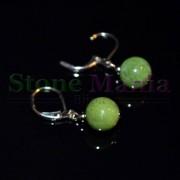 Cercei cu agatatoare jad (nefrit)