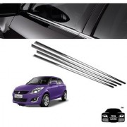 Trigcars Maruti Suzuki Swift 2015 16 Car Window Lower Garnish Chrome