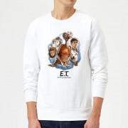 E.T. the Extra-Terrestrial Sudadera E.T. el extraterrestre Retrato Personajes - Hombre - Blanco - S - Blanco